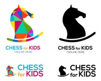 Chess Knight Horse Logo design. For kids Stock Photography