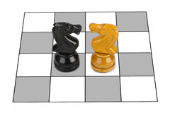 Chess knights Royalty Free Stock Photos