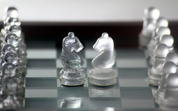 Chess knights Stock Photo