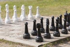 Chess Lawn Game Stock Photos