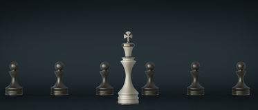 Chess Leadership concept Royalty Free Stock Images