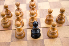 Chess leadership concept Royalty Free Stock Photos