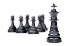 Chess leadership concept. Isolated on white background Royalty Free Stock Photography