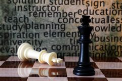 Chess and learn concept Stock Images