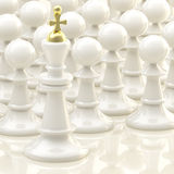 Chess light background: king and pawns Stock Photography