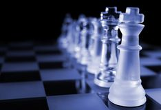 Chess - The Line Up Royalty Free Stock Images