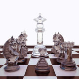 Chess is located on a chessboard. Concept royalty free stock photos