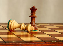 Chess. Loss, made judgment, fall of the King Stock Image