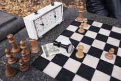 Chess Lost Game In The Park Of Sofia, Bulgaria Royalty Free Stock Images