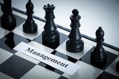 Chess management concept Stock Image