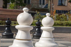 Chess. On the marketplace in Olkusz (Poland Royalty Free Stock Image