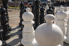 Chess. On the marketplace in Olkusz (Poland Stock Images