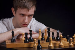 Chess master Royalty Free Stock Photos