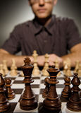 Chess master thinking Stock Images