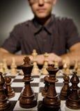 Chess master thinking Stock Images
