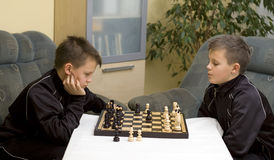 Chess match stock photos