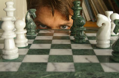 Chess match Royalty Free Stock Image