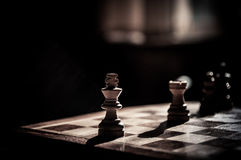 Chess match Royalty Free Stock Photo