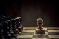 Chess match Royalty Free Stock Photography