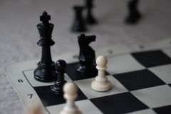Chess mate with pawn, Checkmate! stock photos