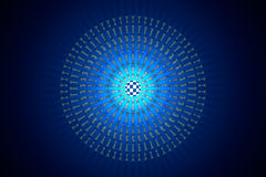 Chess matrix (metaphor). Hi-tech ornament. 3D render illustratio Stock Photography