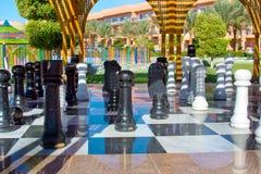 Chess-men in Egyptian hotel Stock Photo