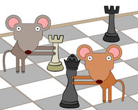 Chess mice Stock Photos