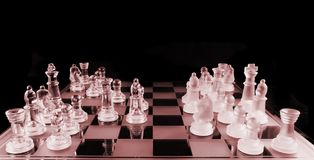 Chess - Mid Game Royalty Free Stock Images