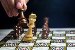 Chess. A mind game; chess pieces Stock Photos