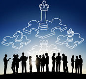 Chess Minded Game Tactics Leadership Strategy Concept Stock Photography