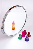 Chess and mirror Royalty Free Stock Images