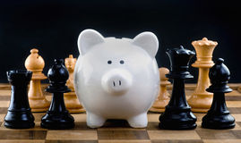 Chess and Money. Stock Photography