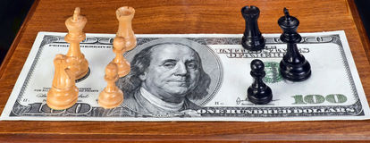 Chess and Money. Stock Images