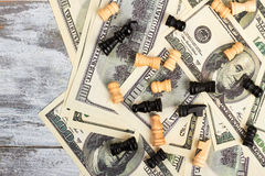 Chess and money. Royalty Free Stock Photos
