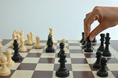 Chess. Move for black in the chess board Stock Images
