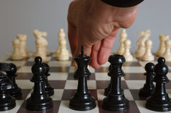 Chess. Move for black in the chess board Stock Image