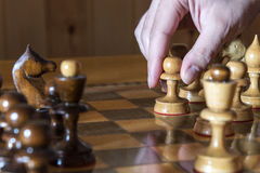 A chess move. Stock Photography
