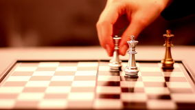 Chess movement stock video footage