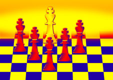 Chess moves Royalty Free Stock Photos