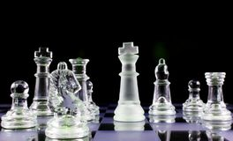 Chess - Never give up Stock Images