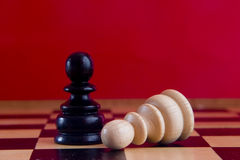 Chess new 2. Chess pieces on the board Royalty Free Stock Images