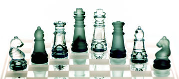 Chess On Chessboard Stock Images