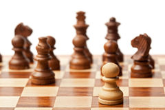 Chess - one against all Stock Photos