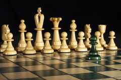 Free Chess: One Against All, Attack On Power On Fire Royalty Free Stock Photos - 160507018