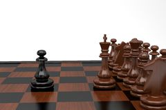 Chess. One pawn against a complete failure Royalty Free Stock Photos