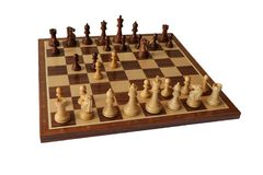 Chess opening. Benko Gambit. Royalty Free Stock Image