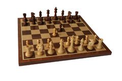 Chess opening. Englund Gambit. Royalty Free Stock Images
