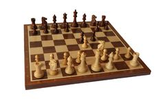 Chess opening. Latvian Gambit. Royalty Free Stock Image