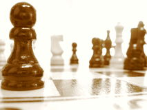 Chess out of focus Stock Photo