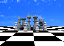 Chess on outdoor chess Royalty Free Stock Photos